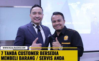 7 Tanda – Tanda Prospek/ Customer Bersedia Membeli Barang/ Servis Kita (Buying Frame)